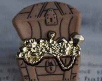 Pirate Booty Treasure Chest Ring