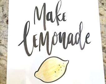 Make Lemonade -- prints or cards