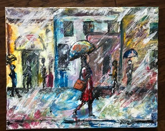 Rainy Day Original Painting