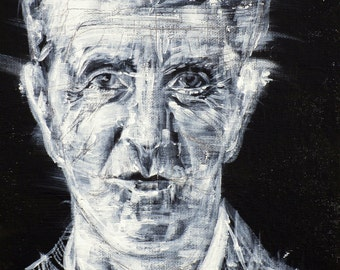 LUDWIG WITTGENSTEIN - original acrylic portrait - one of a kind painting!
