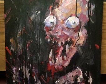 Painting of Zombie Thing