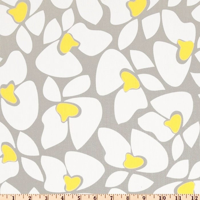 Grey Yellow Fabric by the YARD Home Decor upholstery curtain