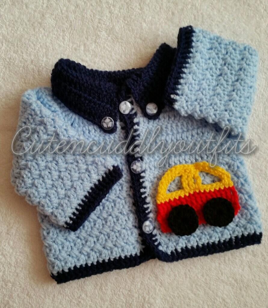 Baby Crochet Pattern, Boys Crochet Pattern, Crochet Cardigan ...