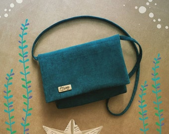 Everyday cross-body bag / casual bag / woman bag / green-blue color
