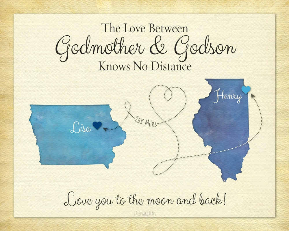 Godmother Gift Godson Gift Long Distance Gift Personalized
