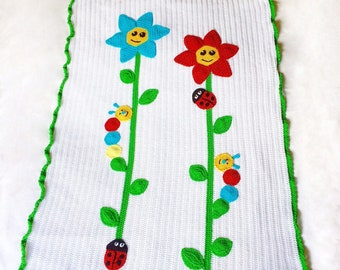 Baby cover Spring motif in cotton 100% handmade-pram cover-cover egg-child cover