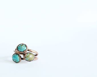 Turquoise Ring - Electroformed Turquoise Ring