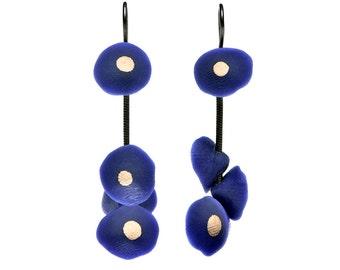 Earrings Nutshells blue ultramarine