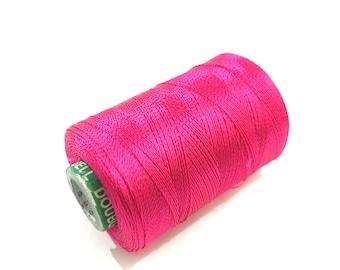 Hot Pink Machine Embroidery Thread Spool  - Hot Pink Art Silk Embroidery Thread - Hot Pink Hand Embroidery Threads Spools Shade DB5N