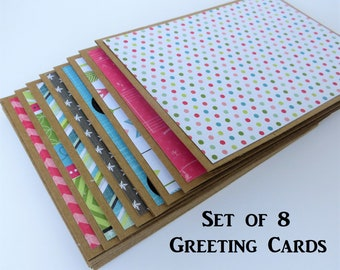 Blank Greeting Cards Set Simple Note Cards for Him All Occasion Cards Handmade Blank Greeting Cards and Envelopes Blank Cards Handmade Pack