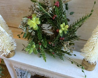 Miniature Rustic Holiday Wreath