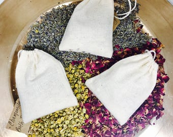 Floral Bath Soaks | Sample Set | Bath Teas | Bath Tea Bags | Organic Bath Teas | Spa Gifts | Gifts for Sister | Gifts for Co-Worker