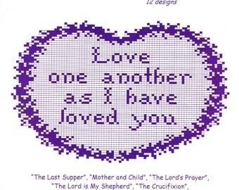 Religious Charts to Crochet in Filet Crochet pattern book