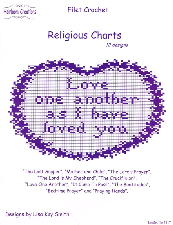 Religious Charts to Crochet in Filet Crochet pattern book