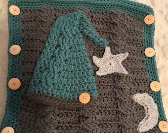 Newborn Snuggle Sack with matching hat