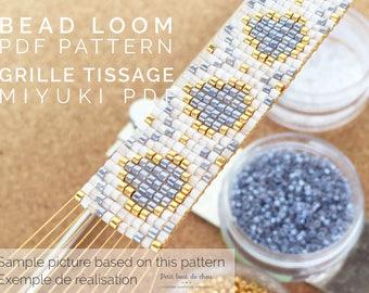 PDF Bead Loom Bracelet Pattern/Beading grid/loom bracelet/ Miyuki delica beads/miyuki pattern/drops pattern/delica pattern
