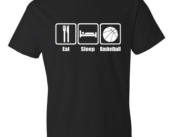 Eat Sleep Basketball, Basketball Shirt, Basketball Coach, Basketball T-Shirt, Basketball Tee, Basketball Season, BBall Shirt