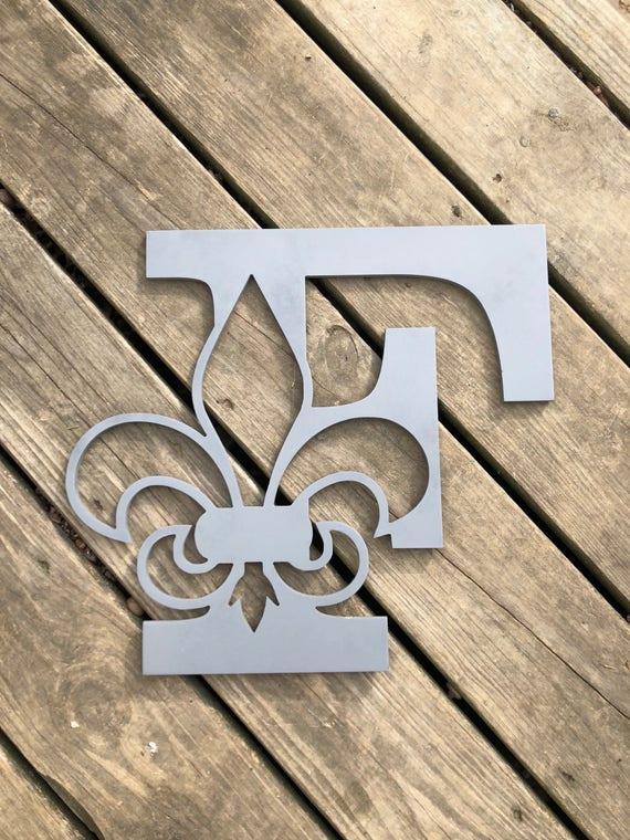 Fleur de lis wood initial, Fleur de Lis, wood monogram letter,  custom wood monogram, fleur de lis monogram, Louisville monogram, Monogram