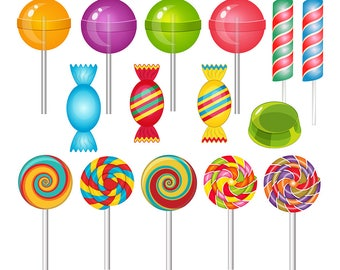 Sweets Clipart, Lollipop Clipart, Candy Clipart, Jelly Clipart, Sweet Clip Art