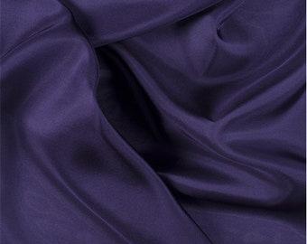 Dark Purple Silk Crepe de Chine, Fabric By The Yard