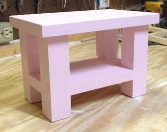 Wooden Doll End Table