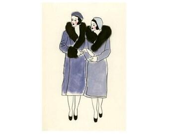 """Art Deco Wall Art - Art Deco Print - Art Deco Decor - Friends -   8.3"""" X 11.8"""" art print"""