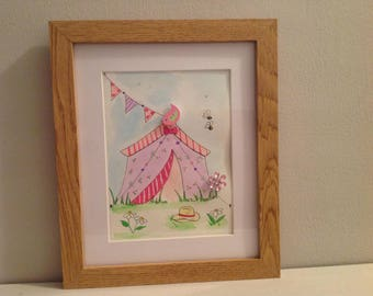Cute,pretty watercolor , great gift  with a summery look