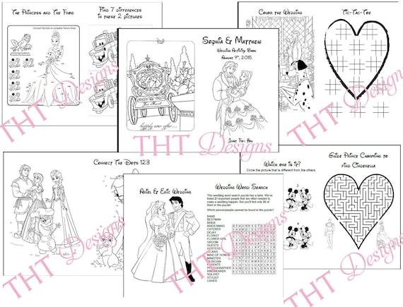 Disney Theme Wedding Activity Book