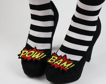 Bam and Pow Shoe Clips, Comic Blasts