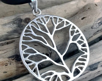 Tree of Life Necklace, Tree of Life Pendant, Sterling Silver Tree-of-Life, Silver Tree of Life CLT003