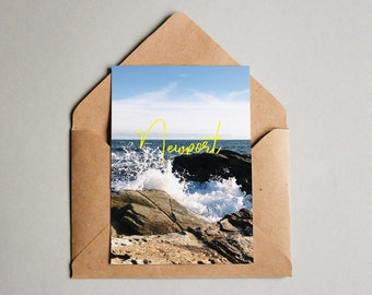Ocean Cliff Postcard - Newport, Rhode Island