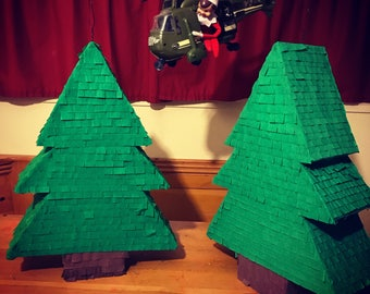 Pine tree pinata / lumberjack pinata / christmas tree pinata