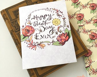 Happy Best Day Ever Card - Wedding Card, New Baby Card, Congrats Card, Greeting Card, paper goods