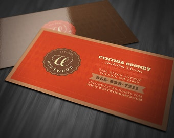 retro business cards etsy