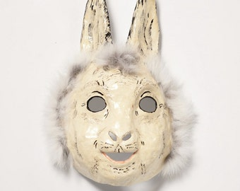 Easter masquerade hare paper mask