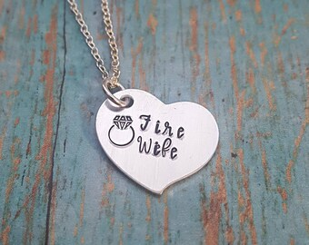 Fireman's Wife Necklace - Fire Wife - Gift for Fireman's Wife - Wife Jewelry - Firemen Jewelry - Gift for Her- Women's Jewelry- Fireman