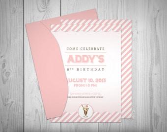 Ice Cream Shoppe Printable // Custom Invitation // Print-it-yourself