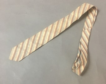 Vintage skinny tie / vintage tie / striped tie / skinny tie