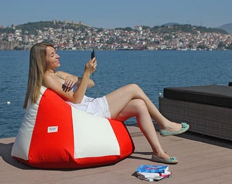 Outdoor bean bag chair cover, Outdoor Lounge chair, Outdoor pillow, Patio chair, Patio pillow, waterproof fabric (NO beans filling)