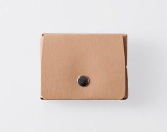Rectangulaire Origami papier lavable porte-monnaie dans Sahara Camel / Vegan Purse