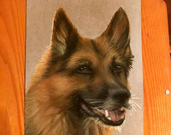 Custom Chalk Pet Portrait Small