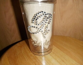 Sparkle Rhinestone Personalized Tumbler for Bride to Be