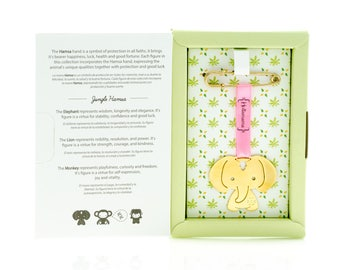 ELEPHANT HAMSA PIN   Good Luck Baby Stroller Charm by Hollamama