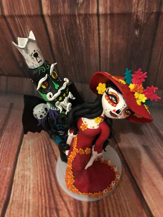 Day of the dead / book of life Wedding Cake Topper highly detailed and fully sculpted - Keepsake - Bespoke Premium Service