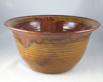 Dryden Pottery Arkansas Brown Glaze Deep Bowl