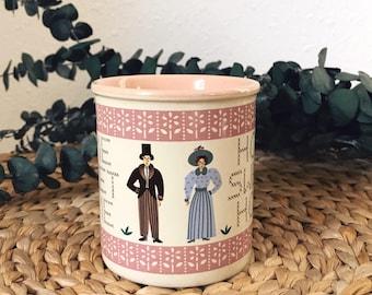 Vintage mug / home sweet home mug / wedding gift