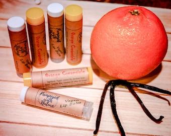 Orange Creamsicle Natural Vegan Lip Balm