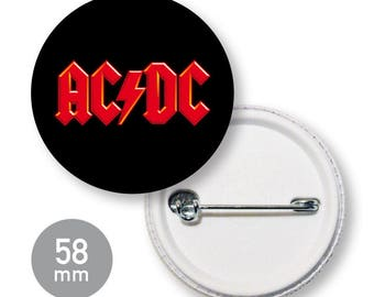 Button band music ACDC 58 mm
