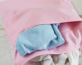 Upgrade Option | Outside Dry Pocket for Wet Bag | Dry Wet Bag | Cloth Diaper Bag