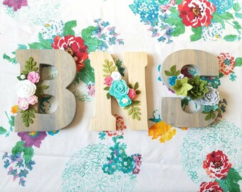 Flower Wood Letters